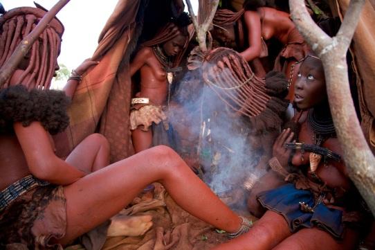 Himba initation ceremony